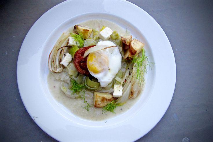 Check out Ben's recipe : Poached egg, cream artichoke https://labelleassiette.co.uk/blog/bens-recipes-poached-egg-cream-artichoke-leek-roasted-fennel-tomato/
