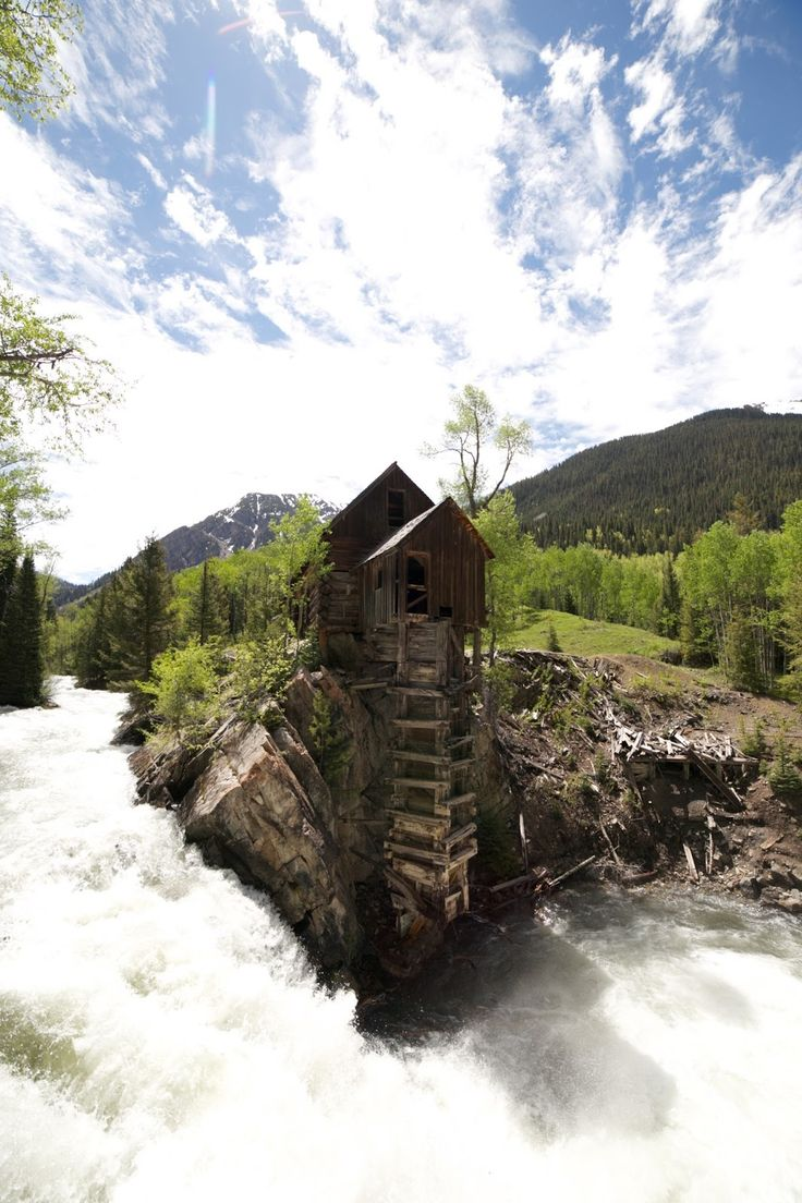 The Crystal Mill - a beautiful abandoned building in Colorado, USA.