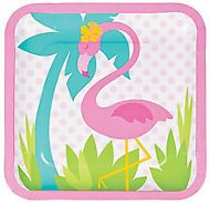 Flamingo Theme Dinner Plates