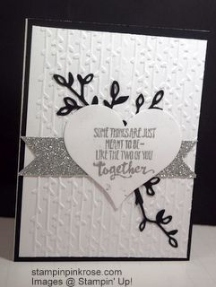 Stampin' Up! Wedding card made with Petal Palette and designed by Demo Pamela Sadler. Make an elegant wedding with the new Petal Palette stamp set out of the Occasions catalog. See more cards at stampinkrose.com and etsycardstrulyheart