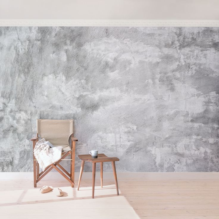 Concrete Walls With Wallpapers In A Cool Industrial Look Betontapete Tapeten Wohnzimmer Betonoptik