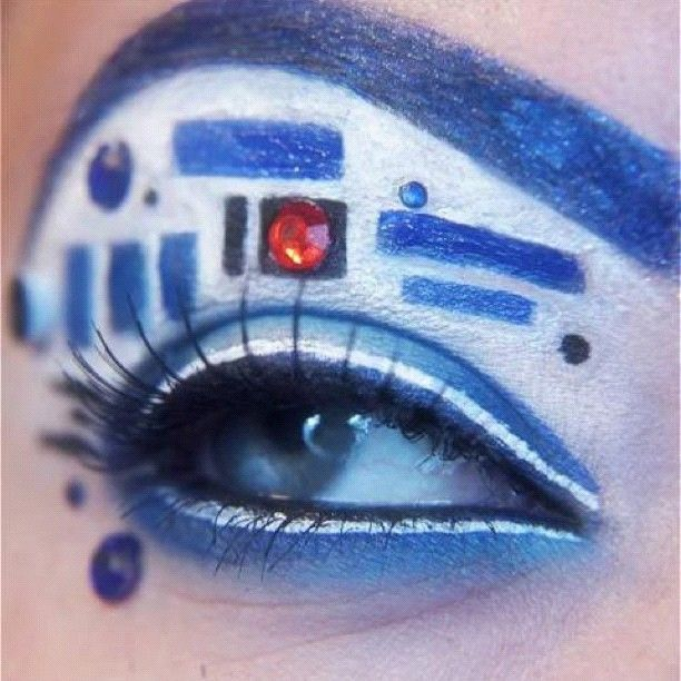 this is pretty awesome: Make Up, Idea, Eye Makeup, Style, R2D2 Eye, Star Wars, R2 D2 Eye, Eyes, Starwars