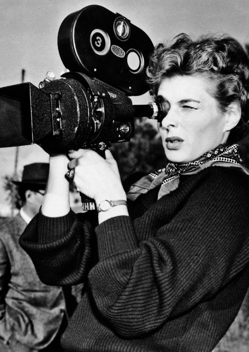 Ingrid Bergman on the set of We, the Women, 1953.