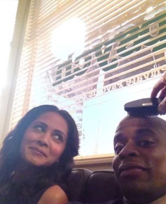 Parminder Nagra and Dule Hill
