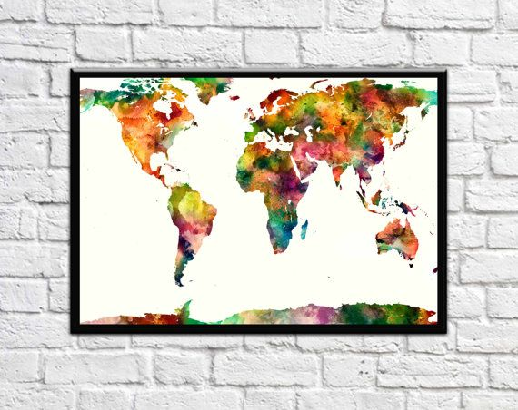 The 22 best world maps images on pinterest map posters world map large world map poster world map aquamarine world map prints watercolor world map art decor world map art prints world map large worldmap gumiabroncs Gallery