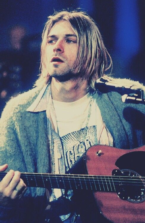 Kurt Cobain-It's a pretty famous picture and I loved his performance that night