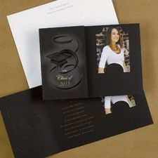 Toss the Cap College Photo Graduation Announcement Cards at InvitationsByU Item Number:GY83386