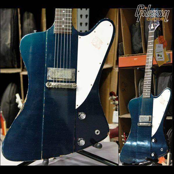Gibson Custom ultra-aged 1963 Firebird I in candy blue