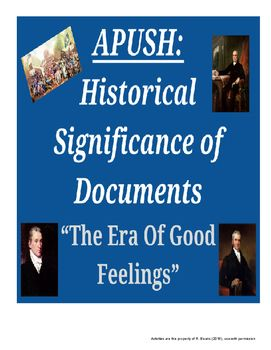 War of 1812 era of good feelings dbq essays