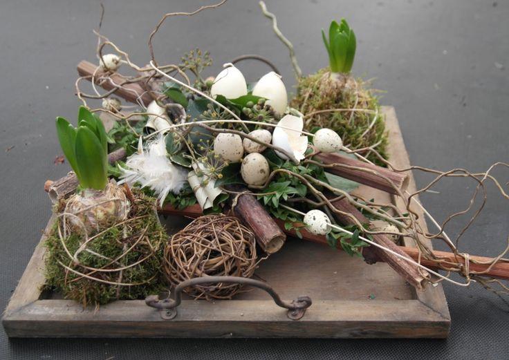 Wunderschöne Osterdeko mit Naturmaterialien
