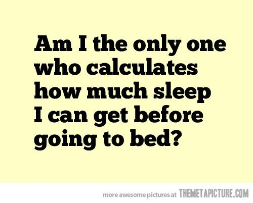 Sleep calculations