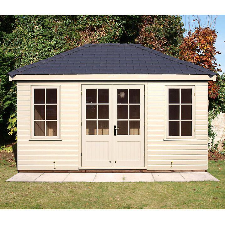 buy crane fsc garden room cream 3 x 42m online at johnlewis - Garden Sheds John Lewis