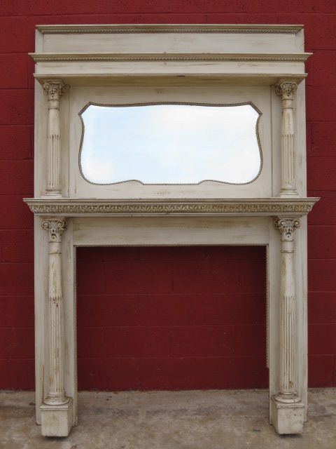 Antique mantel and Building a mantle