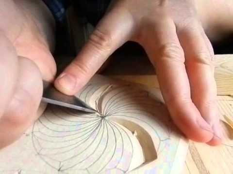 Резьба по дереву. Урок 5 (геометрическая) - YouTube