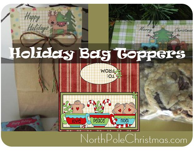 37 Treat Bag Toppers - Printable Christmas Bag Toppers                                                                                                                                                                                 More