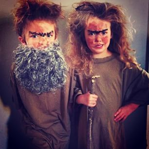 These two, from Roald Dahl's The Twits. | 23 Kids Who Are Completely Bossing World Book Day