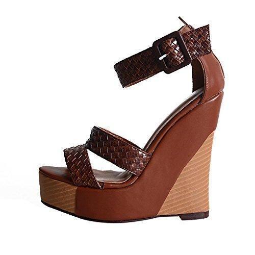 Oferta: 51€. Comprar Ofertas de Onlymaker-Venta caliente zapatos para mujer de tacon de punta abierta de la boda de vestir sandalias tobillo con hebillas hec barato. ¡Mira las ofertas!