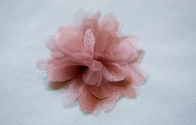 how to make chiffon flowers for sashes/hair pins, etc... I just made four of them, so easy!