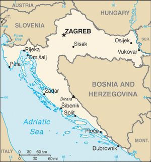 Maps of Eastern Europe: Map of Croatia
