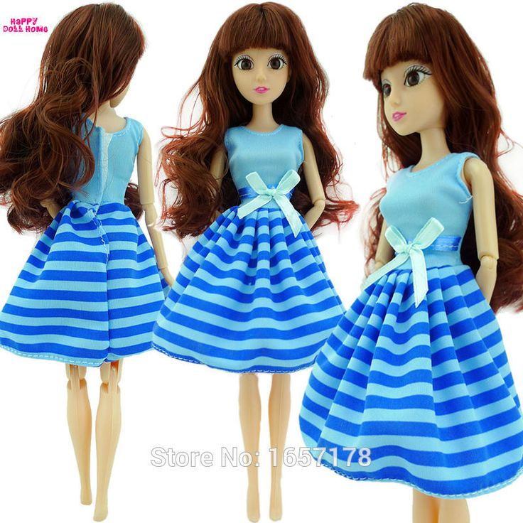 Free Shipping Handmade 1 Set Cute Fashion Blue Dress Clothes Outfit Cloth For Barbie Original Doll Accessories Girl' Gift Toys B #>=#>=#>=#>=#> Click on the pin to check out discount price, color, size, shipping, etc. Save and like it!
