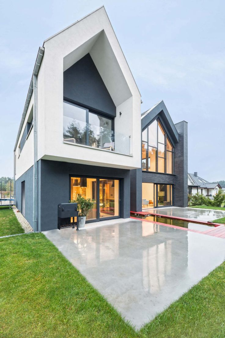 A house in poland with framed views crazy housesmodern housesoutdoor