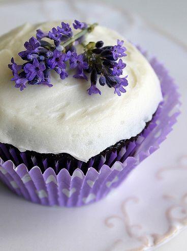Lavender cupcake