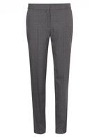 Womens **Tall Grey Check Ankle Grazer Trousers- Grey