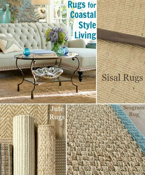 Natural Fiber Coastal Living Rugs Made From Sisal, Jute And Seagrass.
