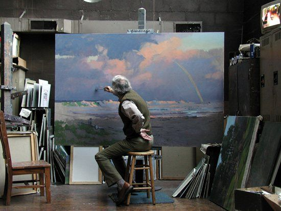 Seeing John Phillip Osborne at his canvas reminds me of all the things I think of and value as an artist.