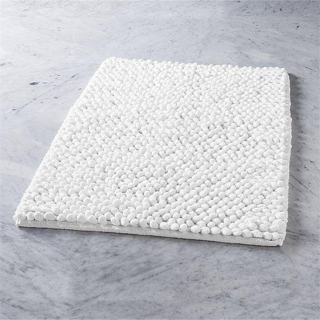 cirrus white bath mat   CB2. 1000  ideas about Grey Bath Mat on Pinterest   Bath mats  Bath