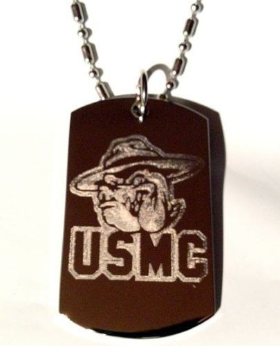 Usmc Bulldog Marines United States Marine Core Military Logo Symbol - Military Dog Tag Luggage Tag Key Chain Keychain Metal Chain Necklace -- To view further for this item, visit the image link.