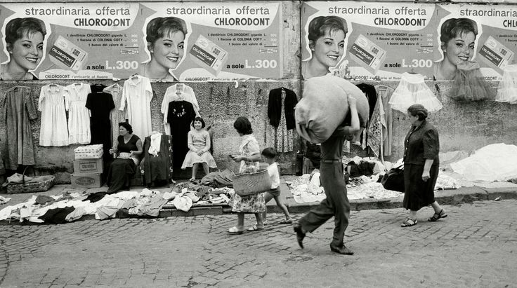 Herbert List - ITALY. NAPLES. Sidewalk sale. 1961.