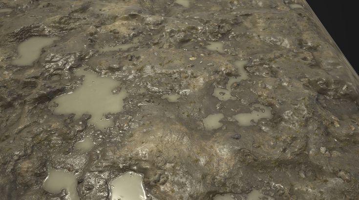 Substance_Designer - 100% procedural Muddy Ground, Robert Wilinski on ArtStation at https://www.artstation.com/artwork/rXl66