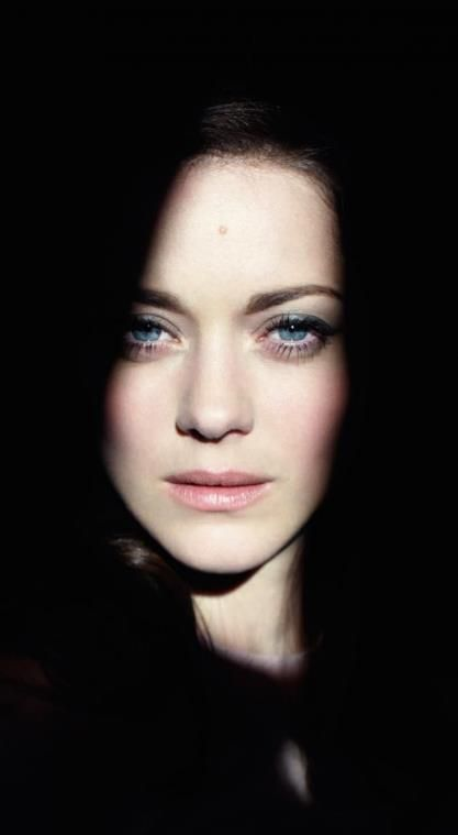 """Marion Cotillard ♥ #fC *noomi has brown eyes and dark hair, and so she likely figured herself not the """"typical"""" European in her dark features. My guess."""