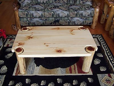 Coffee Table - Rustic Red Cedar Hancrafted Log Furniture - AWESOME!!!