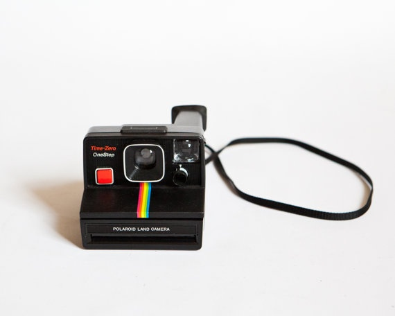 Vintage 1970s Polaroid One Step Land Camera by lastprizevintage