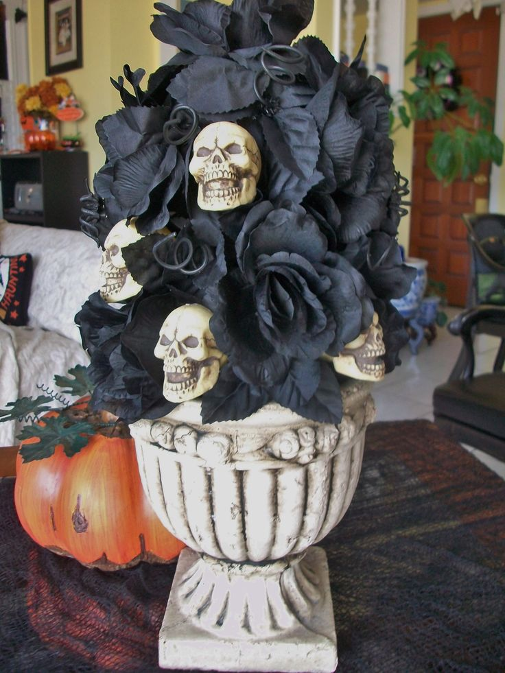 Very Simple Halloween Centerpiece Made From Dollar Tree
