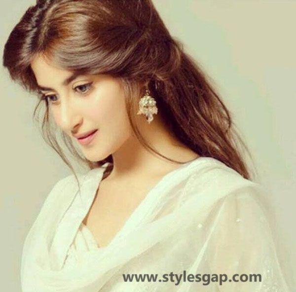 Pakistani celebrities hairstyles- gul e rana- sajal ali