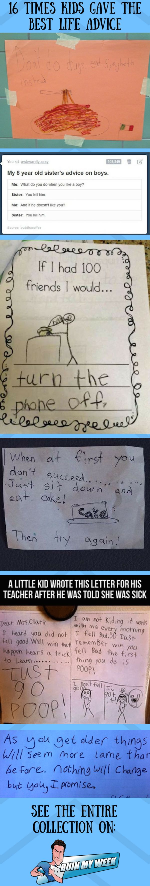 16 Times Kids Gave The Greatest Advice About Life