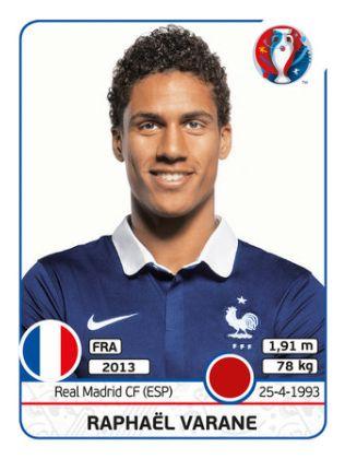 020 Raphaël Varane - FRANCIA - EURO 2016
