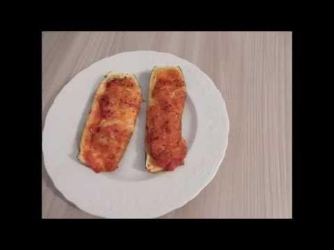 Barchette di Zucchine al gusto Pizza