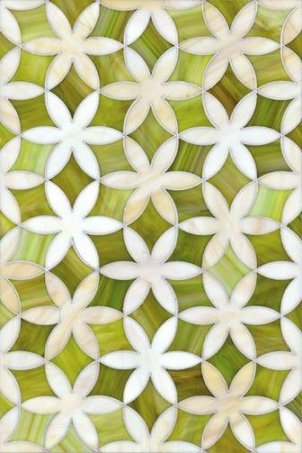 chartreuse tile mosaic