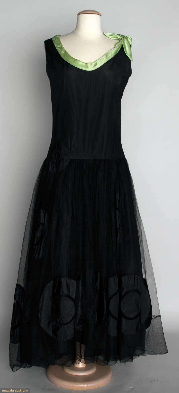 ~Black Silk Robe De Style, 1920s, Augusta Auctions, November 13, 2013 - NYC~