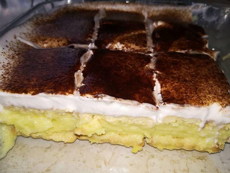 Nem kell sütit sütnöd ahhoz, hogy csodás édességgel lepd meg a családot. Elképesztően ízletes és nincs vele túl sok munka, így ha egy fárasztó nap után valami édes finomságra vágysz, akkor is elkészítheted. Annyit elárulunk, hogy nem lehet abbahagyni, olyan finom! Hozzávalók Fél kiló háztartási keksz, 2 csomag vaníliás puding, 1 liter tej, 3 db...Olvasd tovább