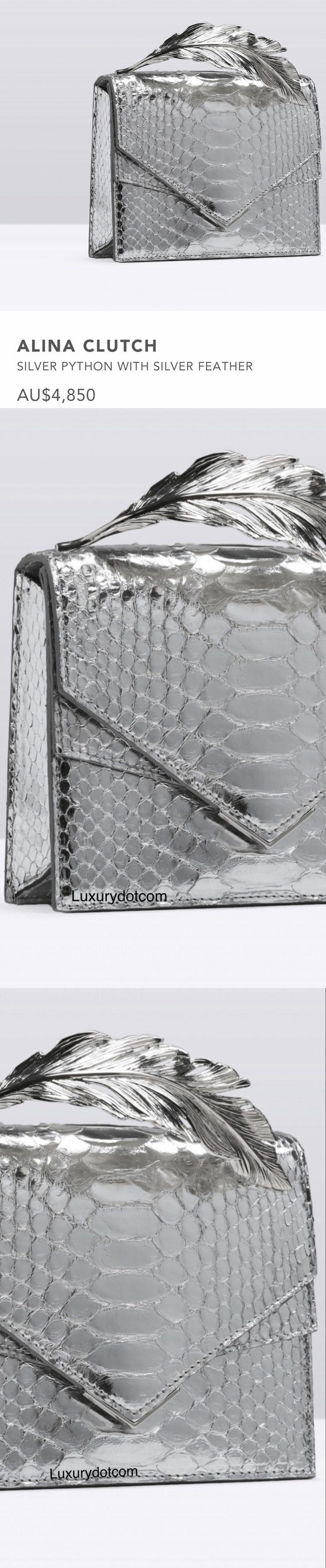 Silver clutch 2017 by Alina design #Luxurydotcom