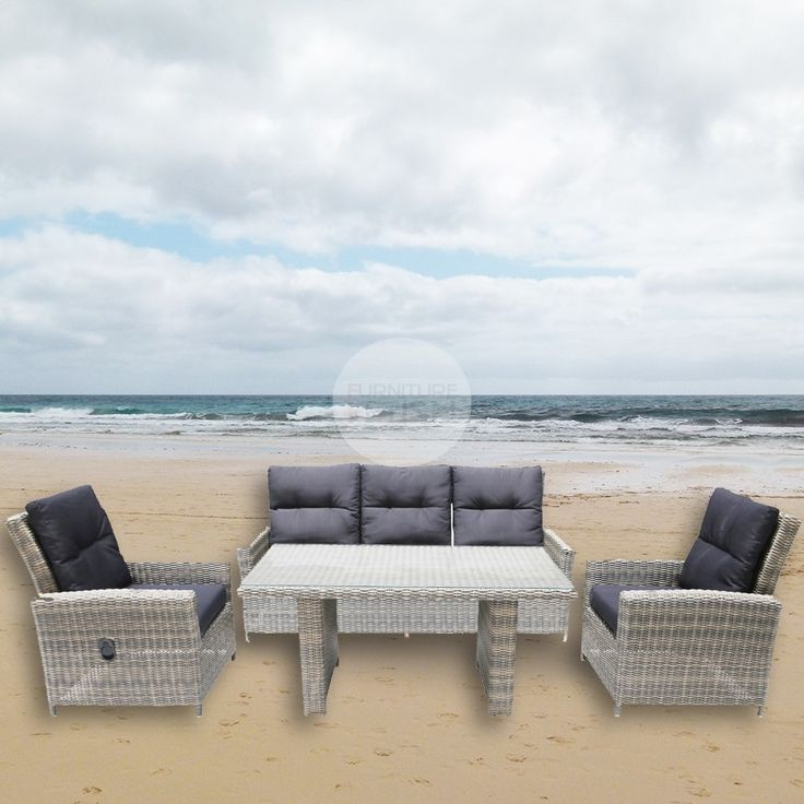 The great Australian weather has made outdoor entertaining areas as important as any other room in the house. That is why our brand new Atlantis King Style 4 Piece Lounge Set and dining combination set is the perfect addition to any outdoor living area as it combines 2 sets in one.