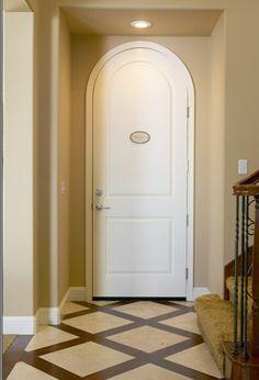 kitchen floor? tile + hardwood inlays