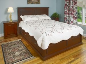Personalize this Raised Panel Maple Roma Storage Bed