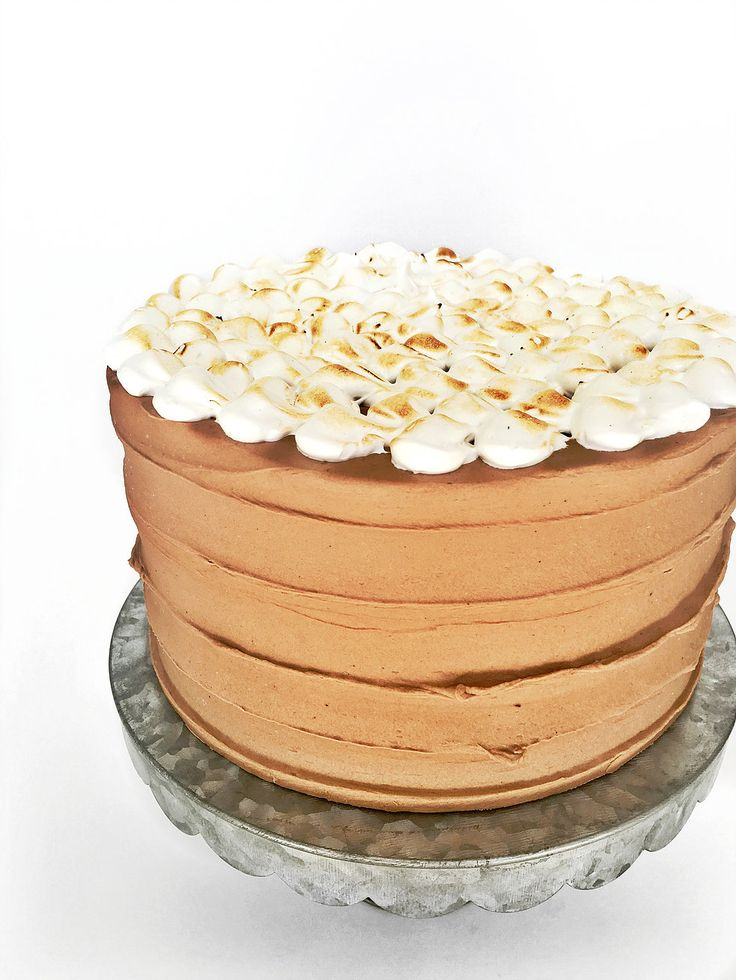 must try ultimate smores cake; toasted graham cracker crust baked with dark cocoa cake layers; filled with creamy chocolate ganache;  toasted marshmallow american buttercream; covered in chocolate american buttercream and homemade torched marshmallow fluff