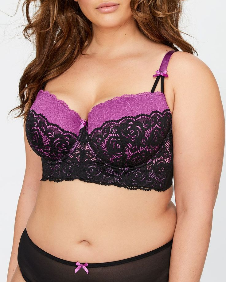 Add a feminine and romantic touch underneath your clothes with this plus size bra by Déesse, featuring color combination reminiscent of French lingerie.<br /><br />Lift & Support<br />- Underwire support<br />- Flat underwire features double coated tip, wrapped in 3 ply casing to reduce poke through<br />- Bust-enhancing décolleté is perfect for low-cut necklines<br />- Molded cups offer natural shaping without adding volum...